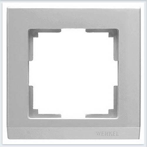 Рамка на 1 пост серебряная Werkel (Веркель) Коллекция Stark - WL04-Frame-01