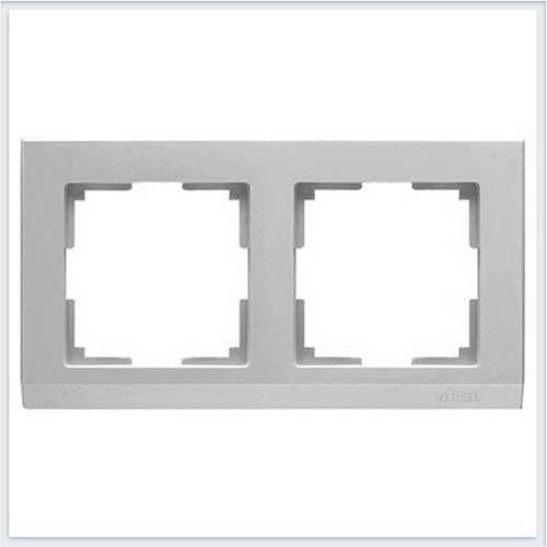 Рамка на 2 поста серебряная Werkel (Веркель) Коллекция Stark - WL04-Frame-02