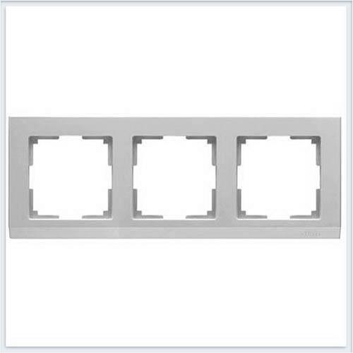 Рамка на 3 поста серебряная Werkel (Веркель) Коллекция Stark - WL04-Frame-03