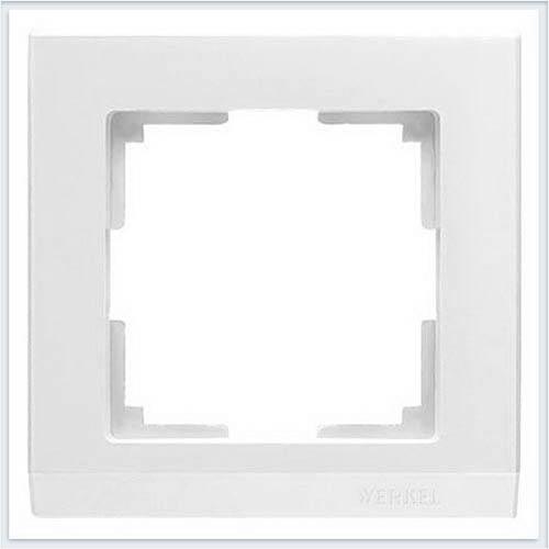 Рамка на 1 пост белая Werkel (Веркель) Коллекция Stark - WL04-Frame-01
