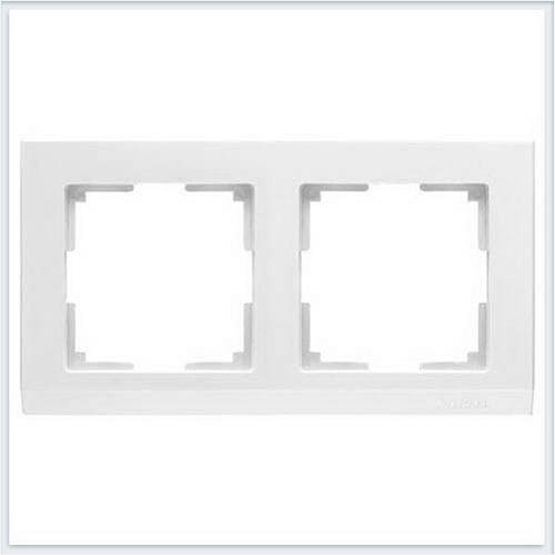 Рамка на 2 поста белая Werkel (Веркель) Коллекция Stark - WL04-Frame-02