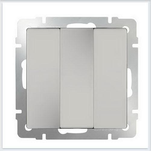 Розетки и выключатели WERKEL (Веркель) - Механизмы цвет слоновая кость - WL03-SW-3G-ivory