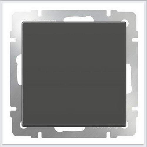 Перекрестный переключатель одноклавишный (серо-коричневый) Werkel (Веркель) - WL07-SW-1G-C
