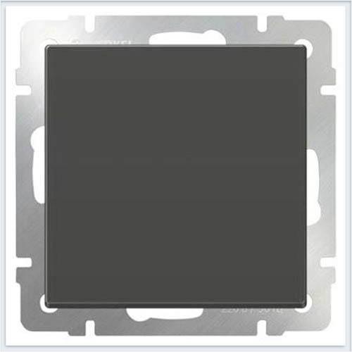 Выключатель одноклавишный проходной - серо-коричневый Werkel (Веркель) - WL07-SW-1G-2W