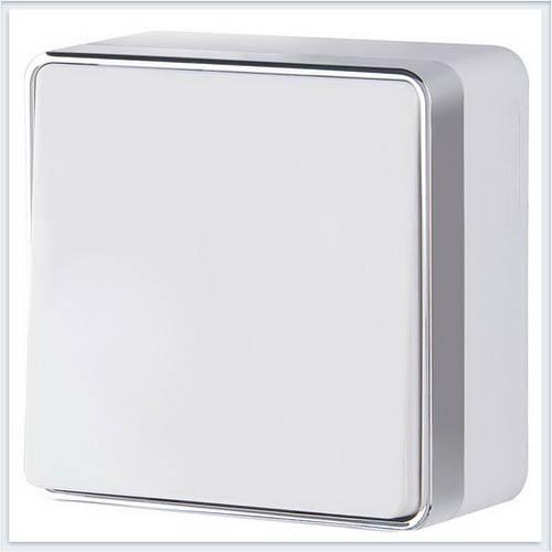 Выключатель одноклавишный проходной Gallant белый