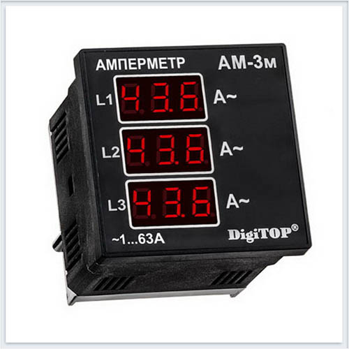 Амперметр, Ам-3м, Измерительные приборы, Амперметры и вольтметры DigiTOP