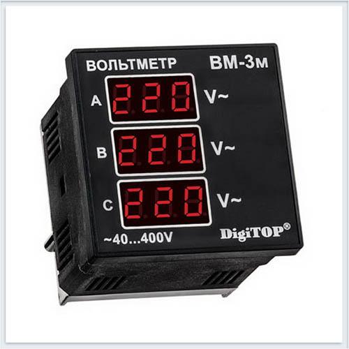Вольтметр переменного тока, Вм-3м, Измерительные приборы, Амперметры и вольтметры DigiTOP