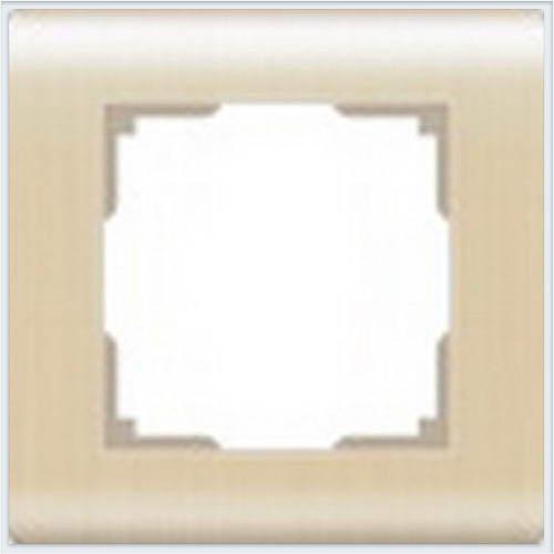 Рамка на 1 пост Werkel (Веркель) Stream шампань - WL12-Frame-01