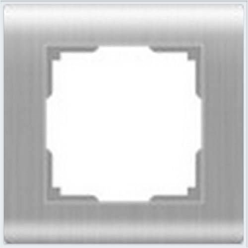 Рамка на 1 пост Werkel (Веркель) Stream серебряный - WL12-Frame-01