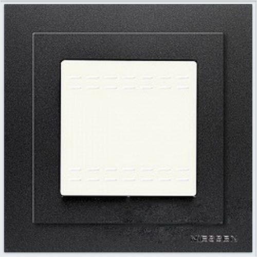 Рамка монтажная 1-постовая, 2-модульная, Zenit шампань - N3271 GR