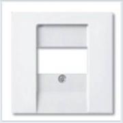Накладка аудиорозетки и ТЛФ/комп ТАЕ розеток белая ABB Basic 55 1724-0-4275