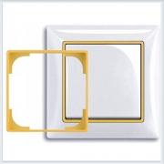 Жёлтый Вставка декоративная в рамку ABB Basic 55 1726-0-0226