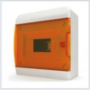 Щит навесной 8 модулей оранжевая дверь Tekfor - BNO 40-08-1