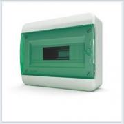 Щит навесной 12 модулей зеленая дверь Tekfor - BNZ 40-12-1