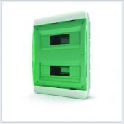 Щит встраиваемый 24 модулей зеленая дверь Tekfor - BVZ 40-24-1