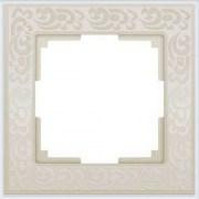 Рамка на 1 пост слоновая кость Werkel (Веркель) Коллекция Flock - WL05-Frame-01