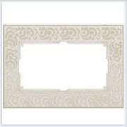 Рамка для двойной розетки слоновая кость Werkel (Веркель) Коллекция Flock - WL05-Frame-01-DBL