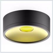 Светильник накладной HD027 17W черный/золото