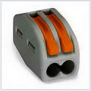 WAGO Клемма монтажная на 2х0,08-2,5 (2х0,08-4 тонкопроволочные ) с рычагами