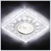 Светильник GX53 с LED подсветкой 3W G214 CH-WH хром-матовый
