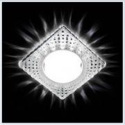 Светильник GX53 с LED подсветкой 3W G231 CL-CH хром-прозрачный