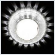 Светильник GX53 с LED подсветкой 3W G252 WH-CH-WH матовый-хром