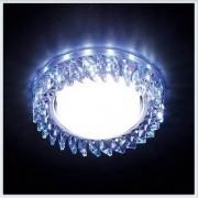 Светильник GX53 с LED подсветкой 3W G255 PR-WH хром-перламутровый хрусталь
