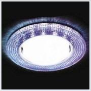 Светильник GX53 с LED подсветкой 3W G290 PR-CH хром-перламутровый