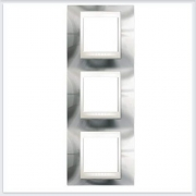Unica Хамелеон Серебро Рамка 3-ая вертикальная