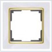 Рамка на 1 пост белая Werkel (Веркель) Коллекция Snabb - WL03-Frame-01-GD