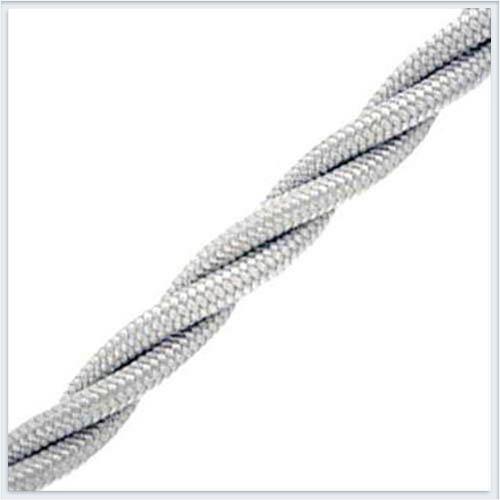 Bironi витой ретро провод 3х2,5, цвет серебро B1-435-710