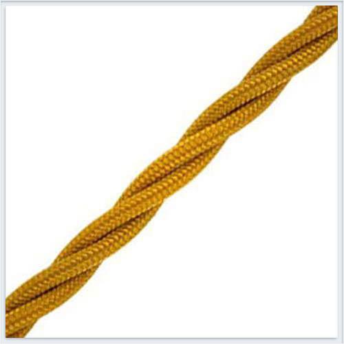 Bironi витой ретро провод 3х2,5, цвет золото B1-435-79