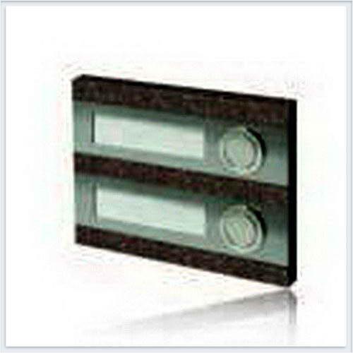 Кнопка звонка 3-я декоративная прямоугольная Zamel (Замель) - PDK 250/2(темный)