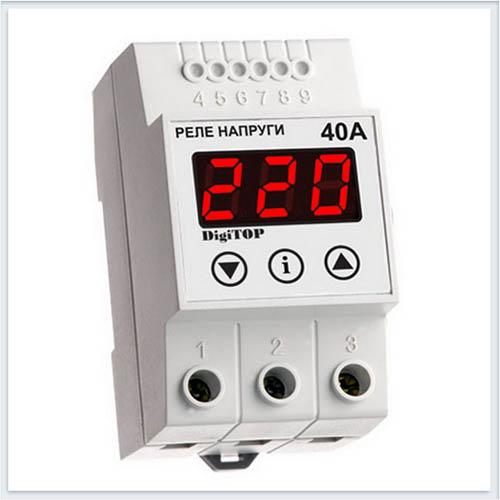 Реле напряжения, Vp-40A, Измерительные приборы, Реле напряжения DigiTOP